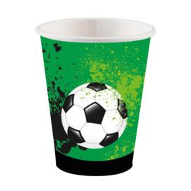 Voetbal bekertjes Goal Getter 250 ml. 8 st.