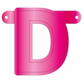 Banner letter D fuchsia