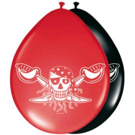 Piraten ballonnen ø 30 cm. 8 st.