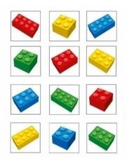 Lego Block Party tattoo 4 x 4 cm. 12 st.