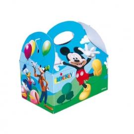 Disney Mickey Mouse traktatie doosje 16 x 16 x 10,5 cm.