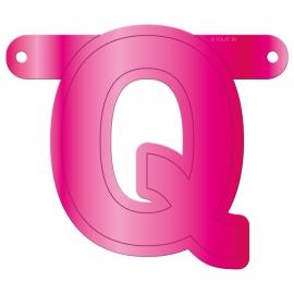 Banner letter Q fuchsia