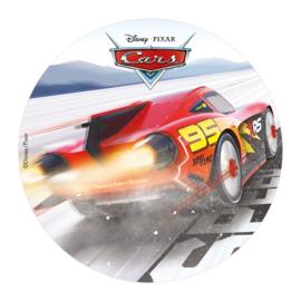 Disney Cars eetbare taart decoratie Lightning McQueen ø 20 cm.
