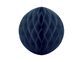 Honeycomb bal party navy blue ø 30 cm.