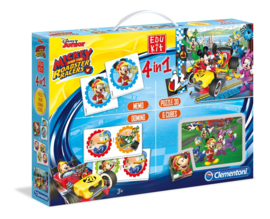 Disney Mickey Mouse and the Roadster Racers 4 in 1 spellenbox