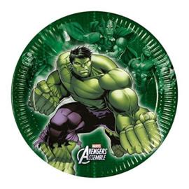Avengers Hulk gebakbordjes ø 19,5 cm. 8 st.