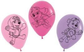 Paw Patrol ballonnen Skye - Everest - Marshall ø 30 cm. 5 st.