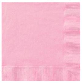 Roze servetten 33 x 33 cm. 20 st.