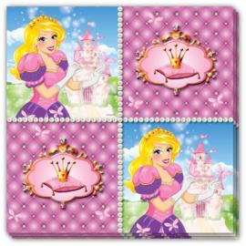 Prinsessen servetten 33 x 33 cm. 16 st.