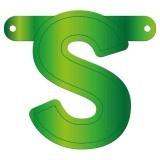Banner letter S lime groen