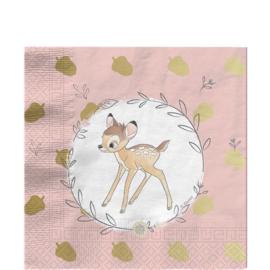 Disney Bambi servetten 33 x 33 cm. 20 st.