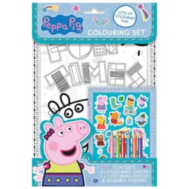 Peppa Pig kleur- en stickerset