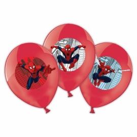 Spiderman ballonnen full color ø 27,5 cm. 6 st.