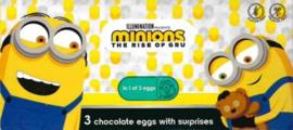 Minions chocolade verrassing ei 3 st.