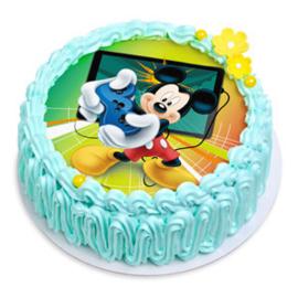 Mickey Mouse taart en cupcakes