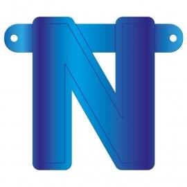 Banner letter N blauw