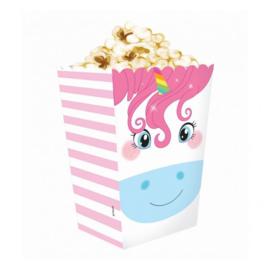 Unicorn popcorn bakjes 4 st.