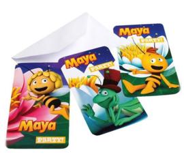 Maya de Bij uitnodigingen 6 st.