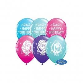 Disney Frozen happy birthday ballonnen ø 28 cm. 6 st.