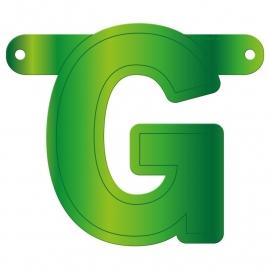 Banner letter G lime groen