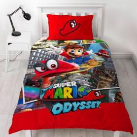 Super Mario Bros dekbedovertrek Odyssey 140 x 200 cm.