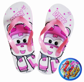 Super Wings Dizzy slippers roze mt. 27-28