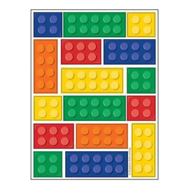 Lego Block party stickervel 4 st.