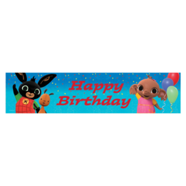Bing happy birthday foliebanner 2,7 mtr. x 20 cm.