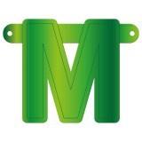 Banner letter M lime groen