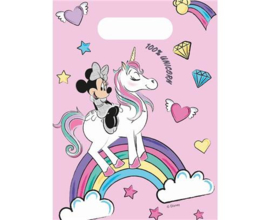 Disney Minnie Mouse Unicorn trakatiezakjes 6 st.