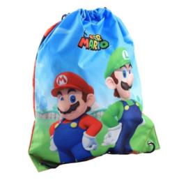 Super Mario en Luigi gym- zwemtas 32 x 41 cm.