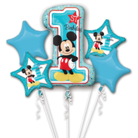 Disney Mickey Mouse 1st Birthday folieballonnen boeket 5-delig