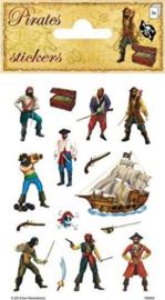 Piraten stickervel 3 st.