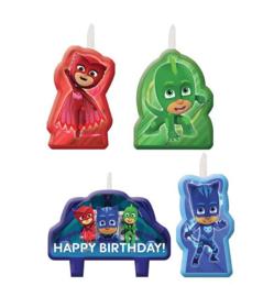 PJ Masks taart kaarsjes set happy birthday