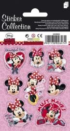Disney Minnie Mouse stickervel 12 x 8,5 cm. 3 st.