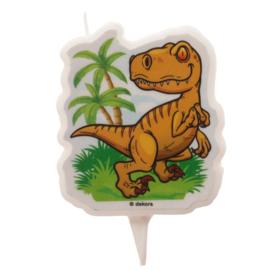 Dinosaurus taart kaars 2D 7,5 cm.