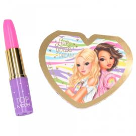TOPModel schrijfset lippenstift meisjes 13 cm. paars 2-delig