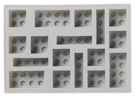 Lego ijsblokjes vorm grijs