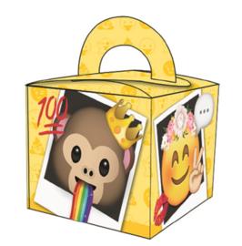Emoji - Smiley traktatie doosje 6,5 x 6,5 x 6,5 cm. 8 st.