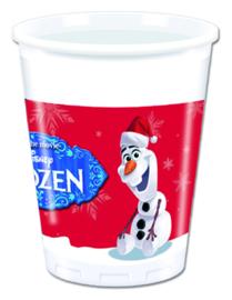 Disney Frozen Olaf Christmas bekertjes 20 cl. 8 st.
