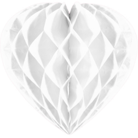 Honeycomb hart wit ø 30 cm.