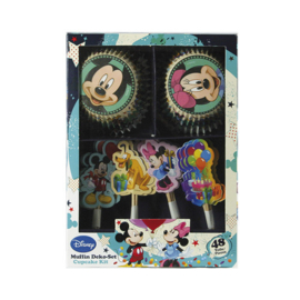 Disney Mickey en Minnie Mouse cupcake decoratie set