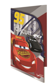 Disney Cars wenskaart Ride The Circuit (blanco)