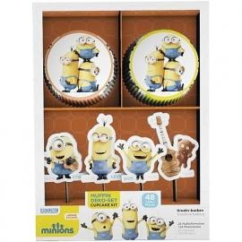 Minions cupcake decoratieset 48-delig
