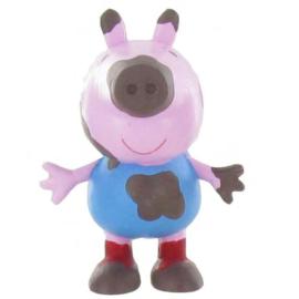 Peppa Pig George modder taart topper decoratie 5 cm.