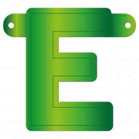 Banner letter E lime groen