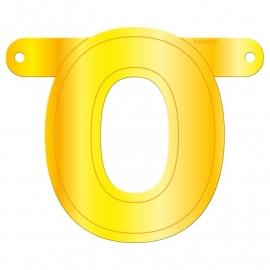 Banner letter O geel