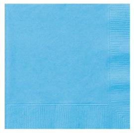 Licht blauwe servetten 33 x 33 cm. 20 st.