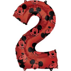 Disney Mickey Mouse folieballon 2 jaar 66 cm.
