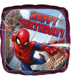 Ultimate Spiderman happy birthday folieballon 43 cm.